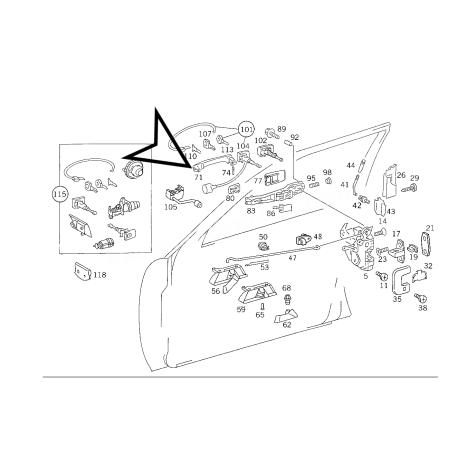 MERCEDES W124 E KASA ORJİNAL KAPI KOLU A1247660101 +