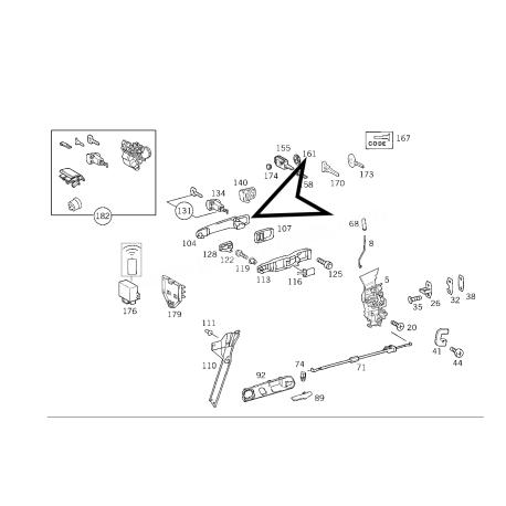 MERCEDES W168 ORJİNAL KAPI KOLU A1687600170 +