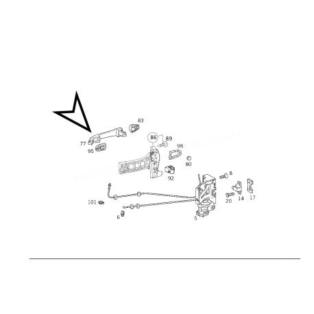 MERCEDES W168 A KASA ORJİNAL KAPI KOLU A1687600270 +