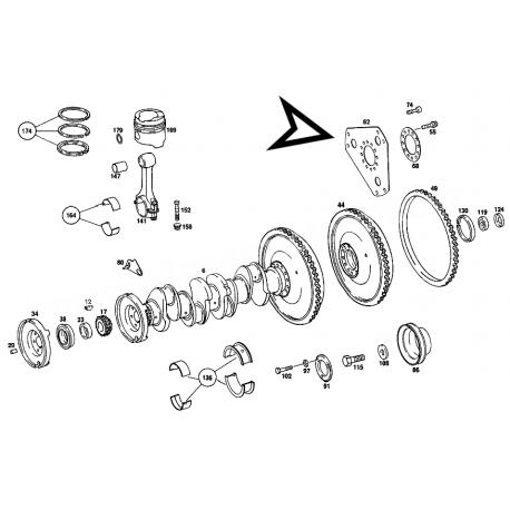MERCEDES W115 S SERİSİ VOLAN SACI A1150320006 +