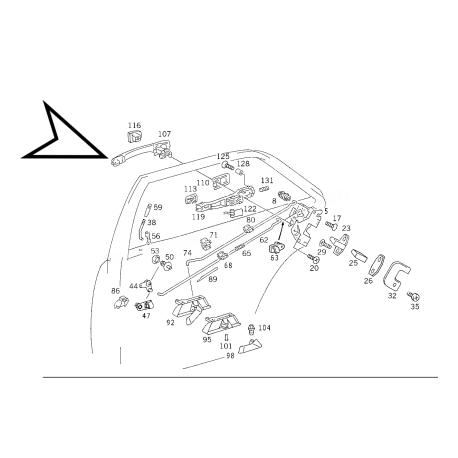 MERCEDES W124 E KASA ORJİNAL KAPI KOLU A1247600370 +