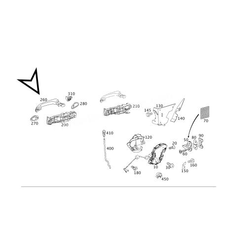 MERCEDES W211 SİYAH ORJİNAL SAĞ ÖN KAPI KOLU A2117601870 9197 +