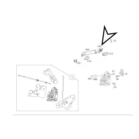 MERCEDES A KASA W169 ORİJİNAL KAPI KOLU KAPAĞI A1697600520 5391 +